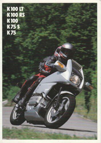 Rare BMW K100LT, K100RS, K100, K75S & K75 Brochure - 1988 - Near Mint Condition