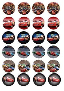 Edible Cake / Cupcake Toppers Disney cars toppers - Cupcake size