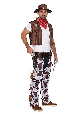 Cowboy Western Komplett Herren Kostüm Weste Hemd Chaps - Cowboy Chaps Kostüm
