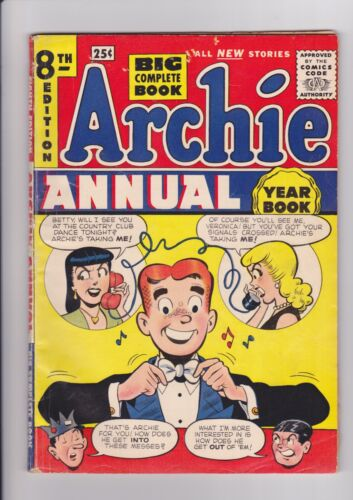 Archie Annual 8, 1956-57, Archie Comics VG/FN silver age