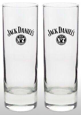 Jack Daniels Tall Whiskey Glass X 2