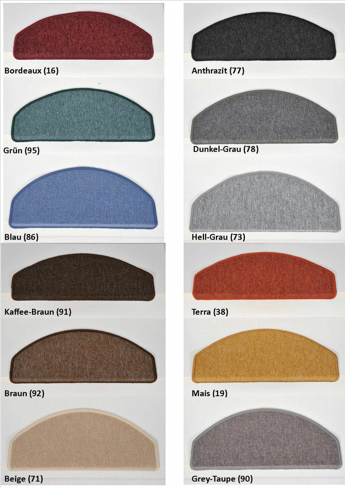 15-er Set Treppenmatten Stufenmatten Treppenschoner KLEINE oder GROßE Maße