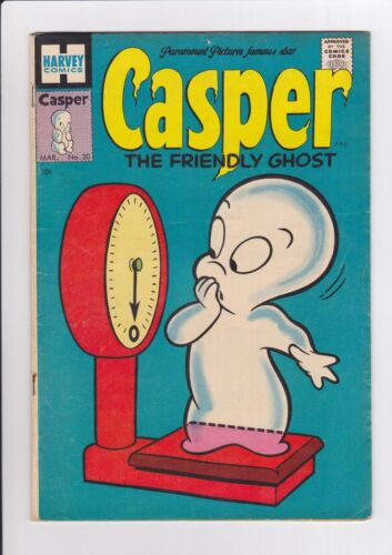 Casper The Friendly Ghost #30, March 1955, Harvey Comics, solid copy VG+