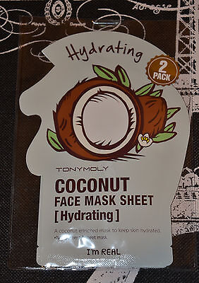 Tony Moly Im Real   Coconut Face Mask Sheet   Hydrating  2 Pack