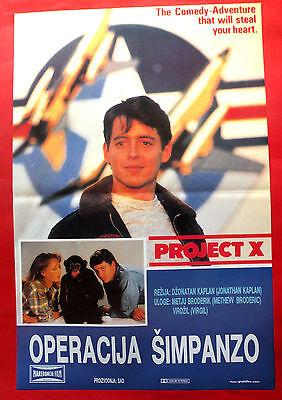 Enterprise X 1987  MATTHEW BRODERICK HELEN HUNT KAPLAN UNIQUE EXYU MOVIE POSTER