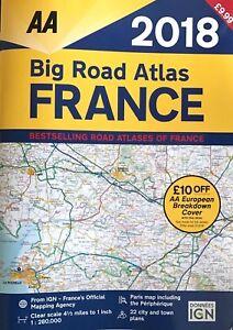 AA Big Road Atlas France 2018 (Road Map) A3 - RRP: £9.99