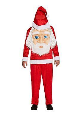 Santa Jumbo Face Halloween Fancy Dress Costume Outfit Size M-L P9444