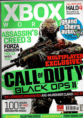 XBOX WORLD-CALL OF DUTY BLACK OPS II-ASSASSIN'S CREED 3-ISSUE 122# NOV