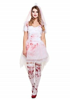 Halloween Female Bloody Bride Fancy Dress Up Outfit Costume One Size Adult - Bloody Bride Costume Halloween
