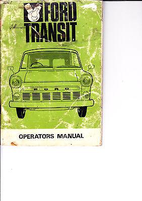 FORD TRANSIT 1965 Original Handbook Manual & Automatic Ref 592117/968 good cond.