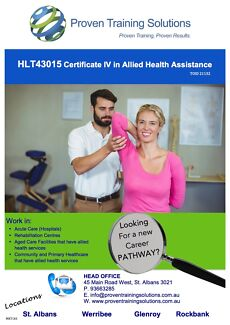 Certificate IV in Allied Health Assistance