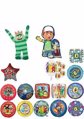 Pre-School Kids TV Characters Balloons Party Ware Decoration Novelty Gift Helium