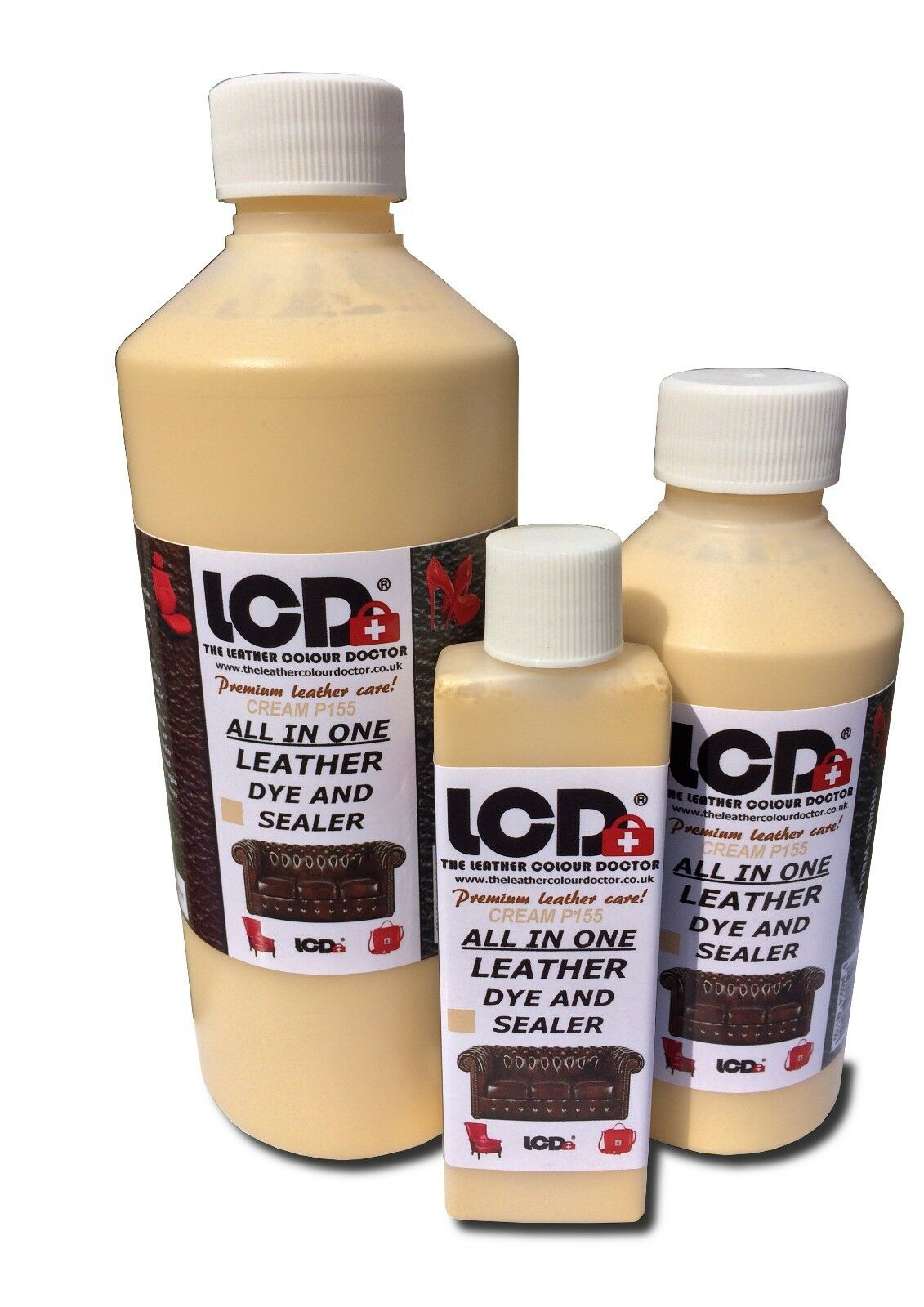 Cream All in one leather colourant repair recolour dye stain pigment paint color