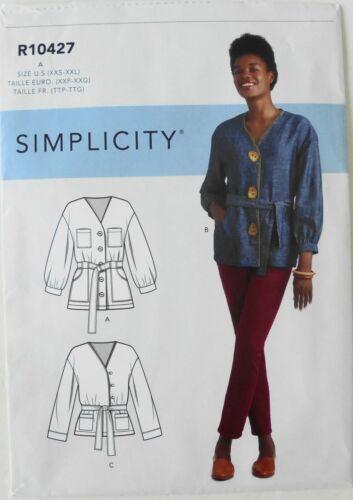 Simplicity 9047 Misses Unlined Jackets Sewing Pattern Sz 4-26 XXS-XXL