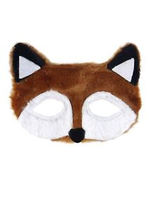 FURRY FANTASTIC MR BROWN FOX EYE MASK BOYS GIRLS UNISEX Fancy Dress Accessory