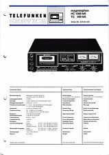 Service Manual Instructions for Tele Radio Magnetophone HC