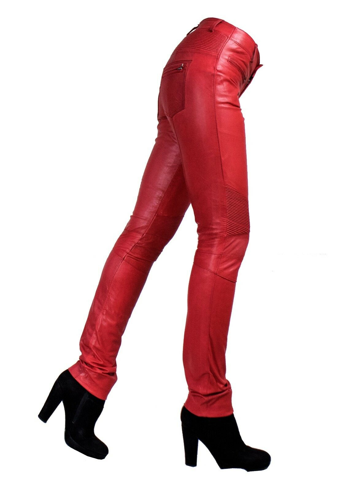 """Yonna"" Damen Lederhose aus echtem Lamm Nappa Leder in Rot"