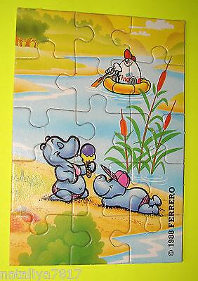 PUZZLE ### HAPPY HIPPOS 1988 ### OBEN RECHTS 100% ORIGINAL=TOP!!!