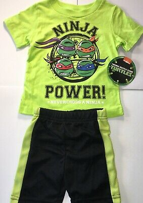 Teenage Mutant Ninja Turtles Outfit (Teenage Mutant Ninja Turtles TMNT Outfits Shorts Shirt 2 pc set 12m, 24m 2T 3T )