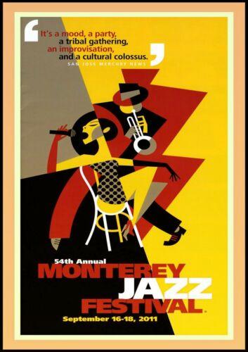 "Reproduction ""Monterey Jazz Festival - 2011"" Poster, Vintage Print, Size: A2"