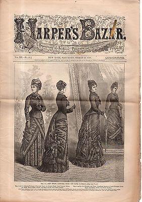 1879 Harpers Bazar März 15 - Frühling und Walking Kostüme; - Herr März Kostüm