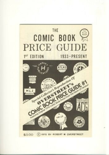 OVERSTREET The Comic Book Price Guide No. #1  Reproduction   MINT  You