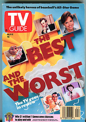 TV Guide July 6-12 1991 The Best and the Worst Year in Review EX