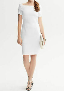 NWT Banana Republic New $130.00 Women Ponte Knit Square-Neck Sheath Size 8, 10
