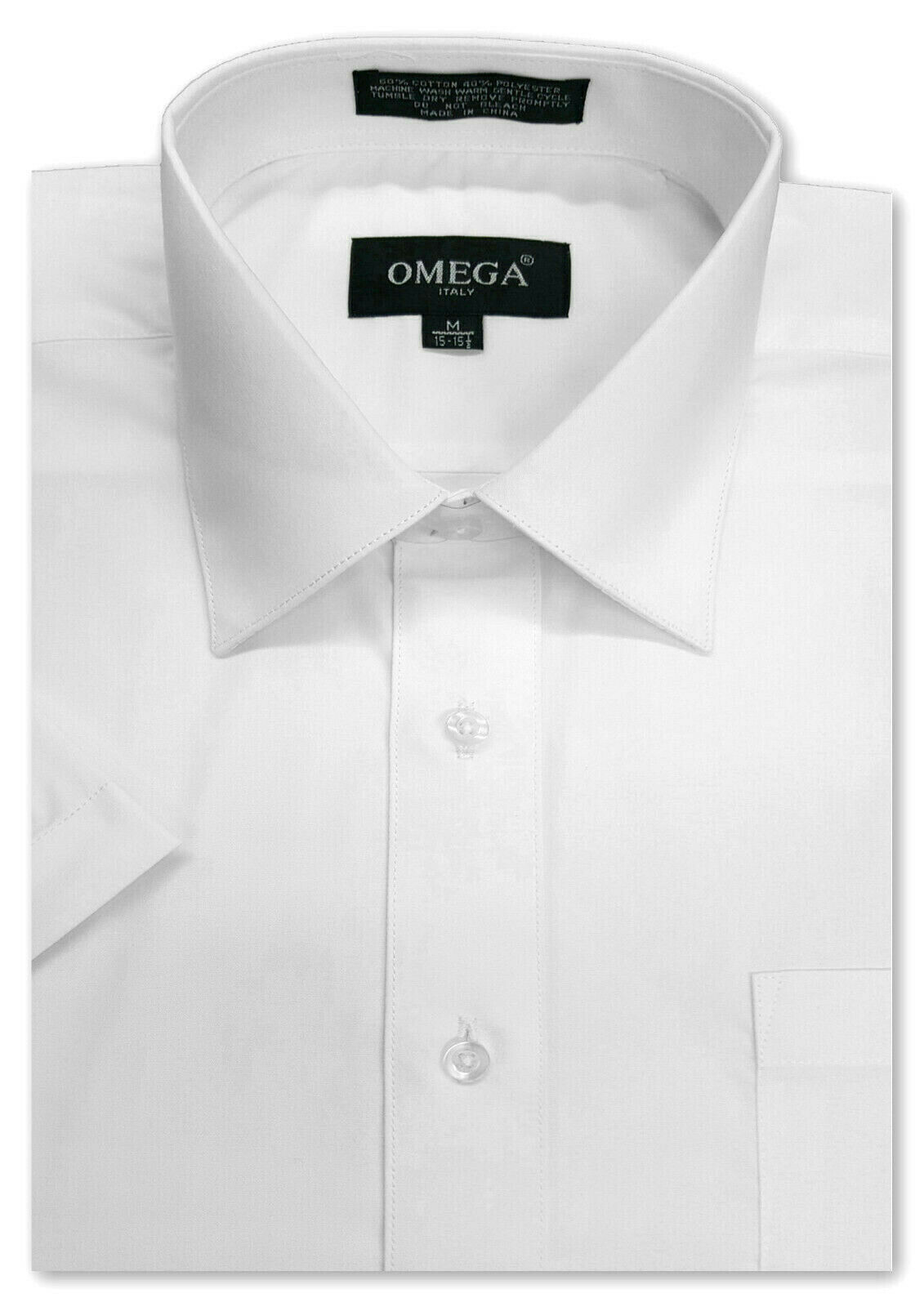 Mens White SHORT Sleeve Dress Shirt, ALL Sizes