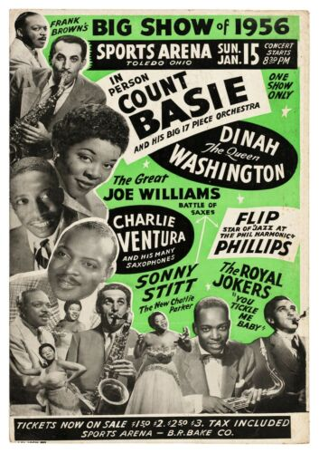 """Reproduction Jazz Poster, """"Count Basie"""", Home Wall Art, Size A2"""