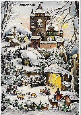 # SELLMER Adventskalender # Nr. 77, Burg im Winterwald, mit GLIMMER