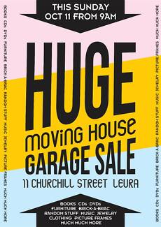 HUGE MOVING HOUSE GARAGE SALE THIS SUNDAY Leura Blue Mountains Preview