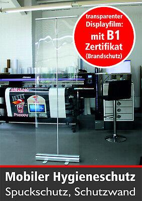 RollUp 60 x 200cm, Hygieneschutz, Spuckschutz, Raumteiler transparent, Banner
