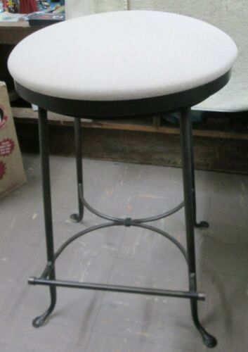 Charleston Forge Cast Iron Swivel Stool with foot rest Made in USA
