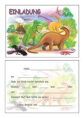 Einladungskarten Kinder Geburtstag Einladungen Dino Dinosaurier Saurier Urzeit