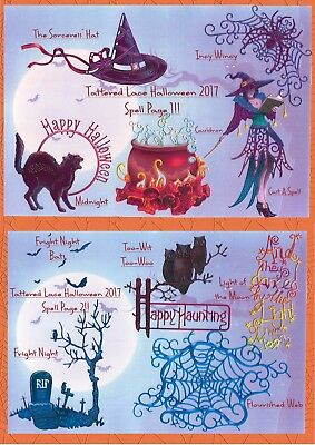 TATTERED LACE HALLOWEEN 2017 DIE CUT - 5 COLOURS - MIXED/INDIVIDUAL/PICK N' MIX