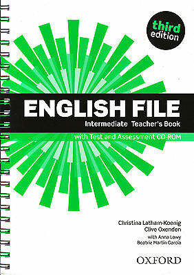 ENGLISH FILE Intermediate Third Edit Teacher's Book w Test &Assesment CD-ROM New