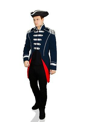 Soldat Napoleon Jacke Karnevalskostüm Uniform Fasching Theater Party Gehrock TOP ()