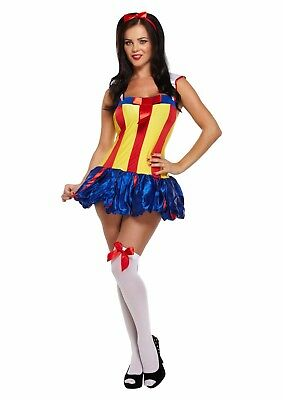 Adult Female Snow Princess White Fancy Dress Dressing Up Outfit Costume Hen Do - Snow White Outfit Adults