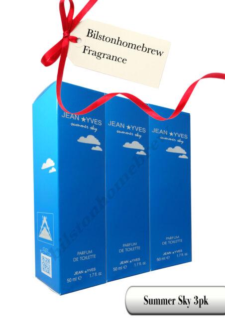 Milton Lloyd Summer Sky Womans 50ml Parfum de Toilette spray X3