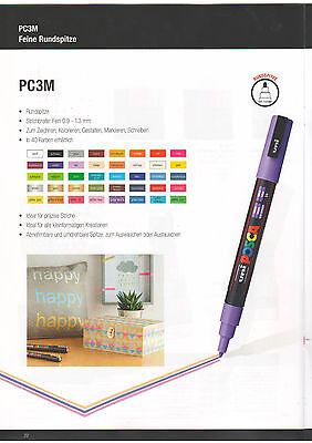 Farbmarker von POSCA PC-3M ideal zum Gestalten Kreieren mit persönlicher Note Persönliche Pc
