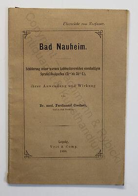 Credner Bad Nauheim Sprudel-Soolquellen Anwendung & Wirkung 1888 Hessen Kurstadt