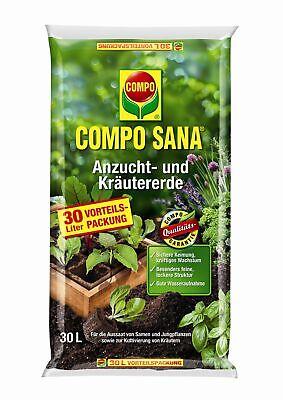 COMPO SANA® Anzucht- und Kräutererde 30 Liter