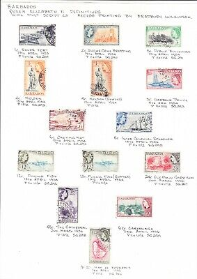 Barbados 1953 Queen 2 Issues  Used