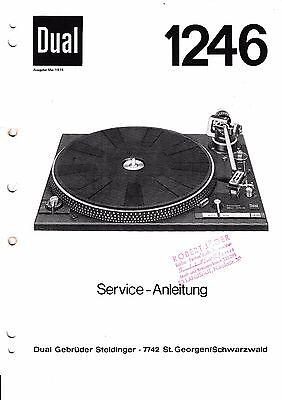 Service Manual-Anleitung für Dual 1246