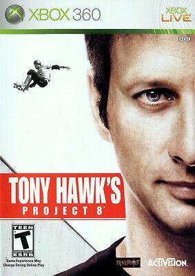 Tony Hawk's Project 8 Eight Microsoft Xbox 360 Video Game Skateboarding tricks