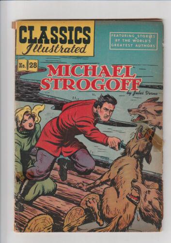 Classics Illustrated #28 G HRN 51 Michael Strogoff 1948