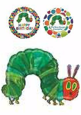 The Very Hungry Caterpillar Balloons Party Ware Decoration Novelty Gift Helium - The Very Hungry Caterpillar Balloons