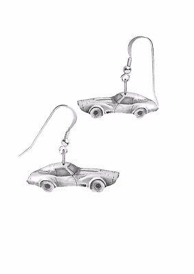 Corvette Earring - Corvette 1979 on hook Earrings sterling silver 925 Codec35