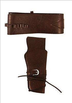 Cowboy Wild West Adult Gun Belt With Holster - Fancy Dress Gun Holster